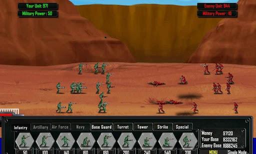 Enemy Battle on Ground War