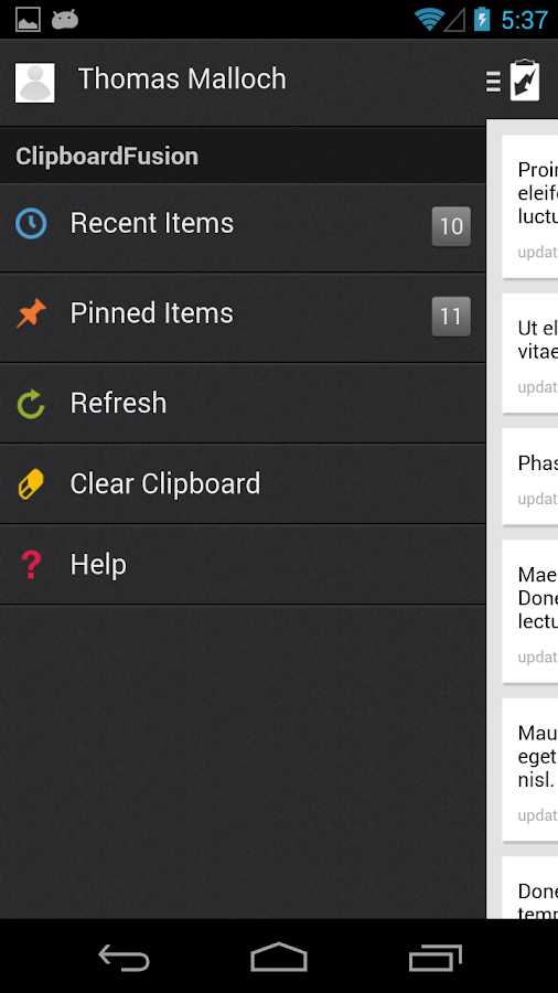 ClipboardFusion- screenshot