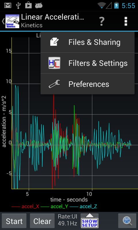 Sensor Kinetics Pro - screenshot
