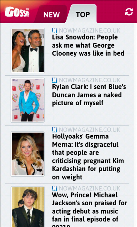 Gossip UK- screenshot
