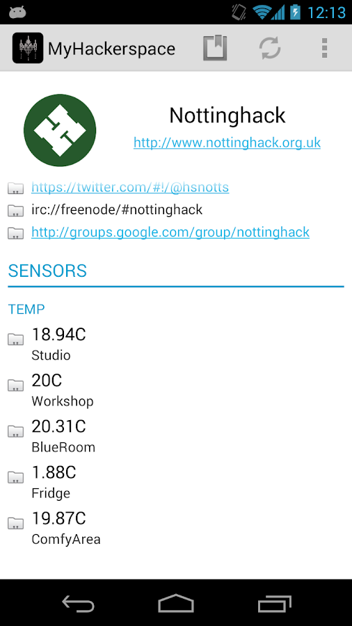 My Hackerspace- screenshot