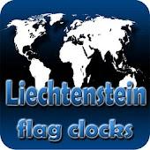 Liechtenstein flag clocks