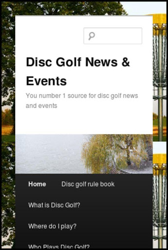 Disc Golf News and Events