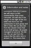 Screenshot of Odds Ratio Calculator