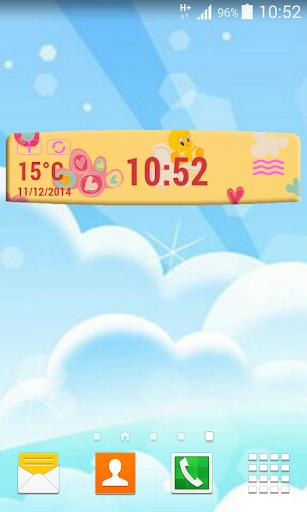 兒童數字的天气和时钟