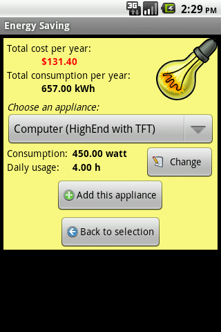Energy Saving- screenshot
