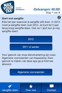 MaxYourTax Belasting advies - screenshot thumbnail