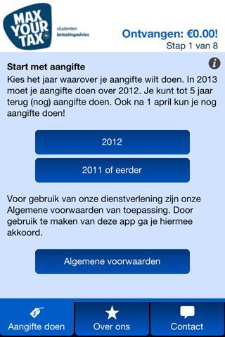 MaxYourTax Belasting advies - screenshot