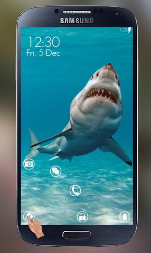 憤怒的鯊魚屏幕鎖定