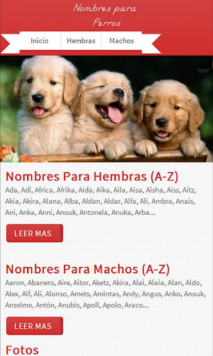 【免費生活App】Nombres de Perros-APP點子