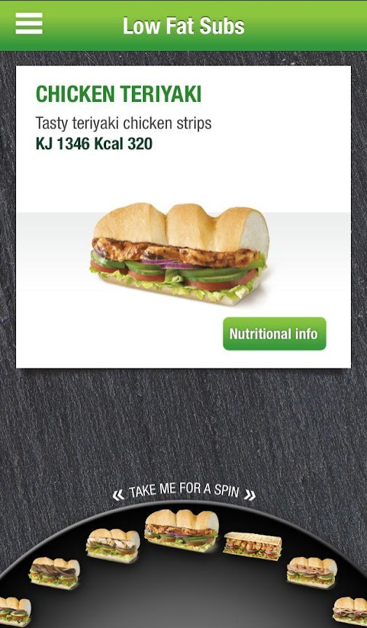 SUBWAY® SUBCARD® UK & Ireland - screenshot