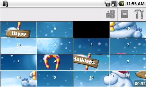 Christmas Slide Puzzle