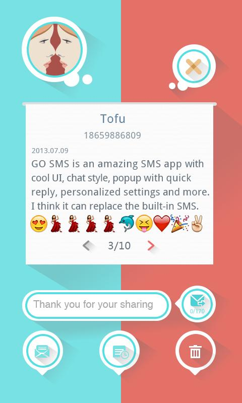 GO SMS Pro Emoji Plugin - screenshot