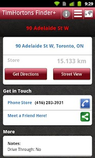 Tim Hortons Finder+ - screenshot thumbnail