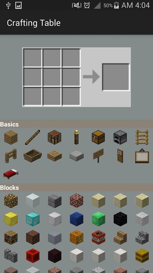 Crafting table for minecraft android apps on google play for Good craft 2 play store