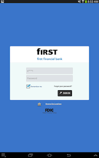 First Financial Bank - Mobile - screenshot thumbnail