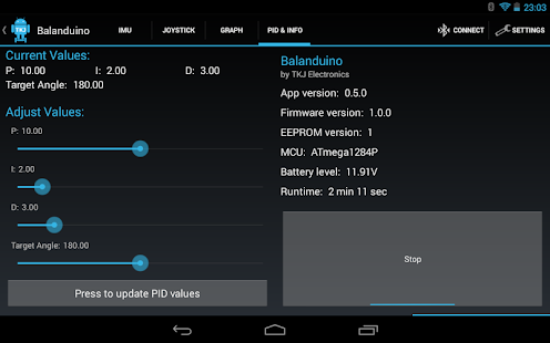 Balanduino Android App- screenshot thumbnail