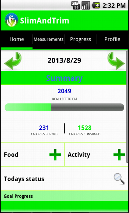 Calorie Counter - Slim & Trim - screenshot