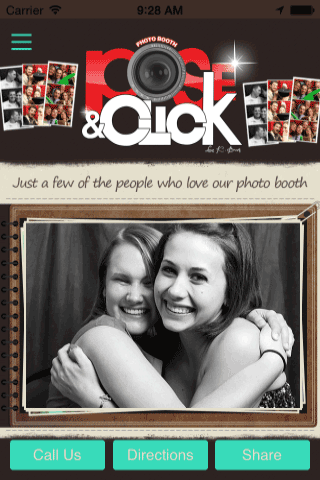 Pose Click photo booth