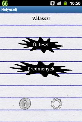 Helyeselj! - Helyesírás teszt - screenshot