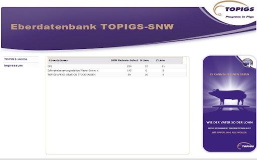 TOPIGS-SNW Eberdatenbank