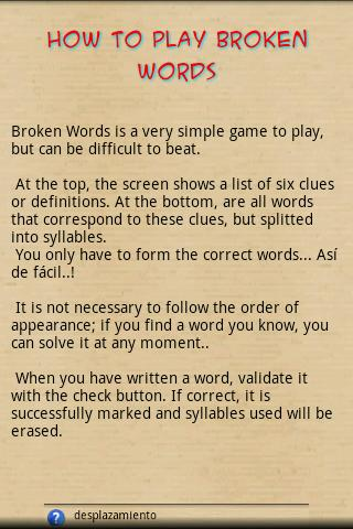 Broken Words- screenshot