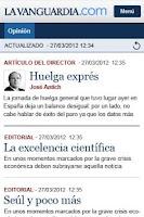 Screenshot of La Vanguardia