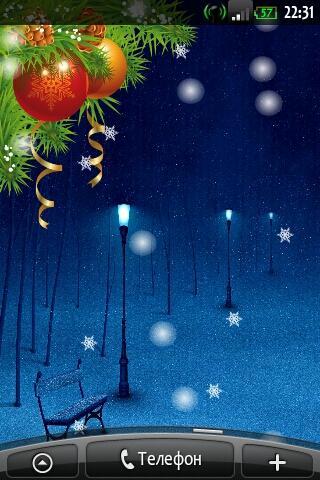 Falling Snow-Christmas LWP