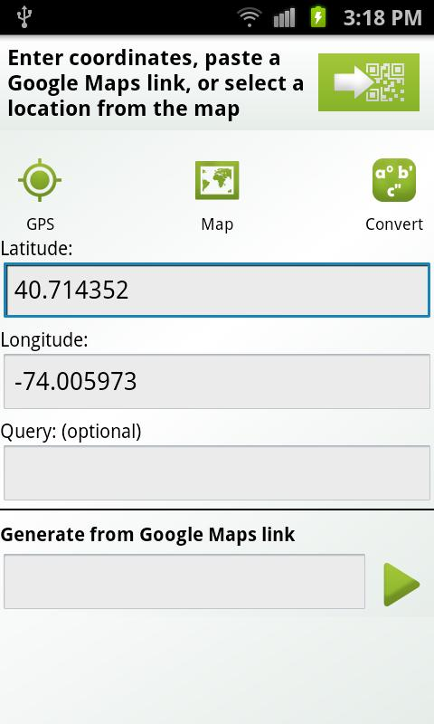 QR-GPS Plugin™ - screenshot