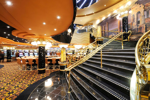MSC-Preziosa-Millennium-Star-Casino - Like everything else on MSC Preziosa, the grand entrance to the Millennium Star Casino was designed to impress.