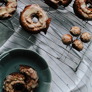 Crème Fraîche Doughnuts with Salted Browned Butter Glaze