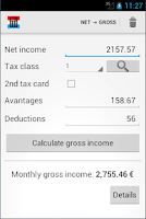 Screenshot of Luxembourg salary calculator