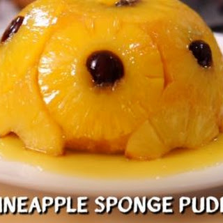 Upside-Down Pineapple Sponge Pudding