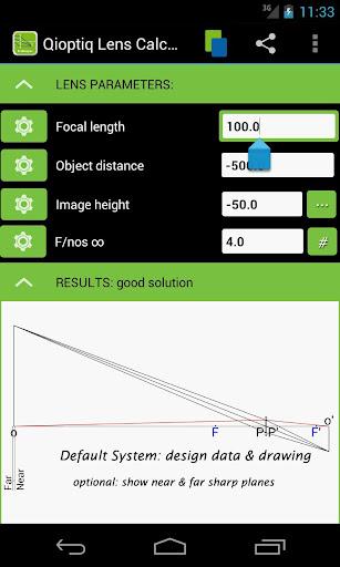 Qioptiq Lens Calculator