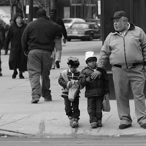 Walking with Grandpa by Robert Daveant - People Street & Candids ( ohio, grandfather, boys, street, children, candid, elderly, cleveland,  )