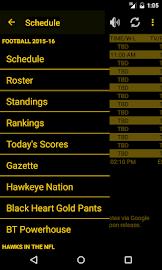 Hawkeye Football Schedule Screenshot 2