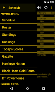 Hawkeye Football Schedule Screenshot 2