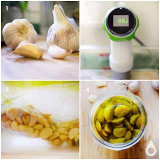 Sous Vide Garlic Confit.