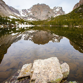 The Loche, Rocky Mountain National Park by David Andrus - Landscapes Waterscapes ( reflection, mountains, lake, rocky mountain national park, the loch )