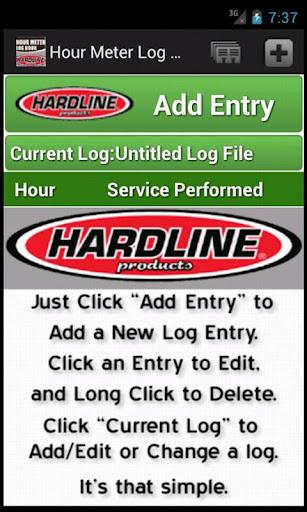 Hour Meter Log by Hardline