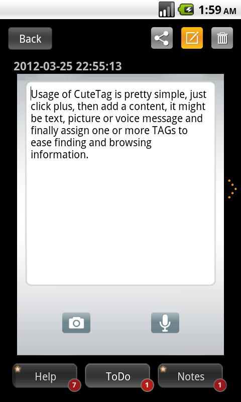 CuteTag- screenshot