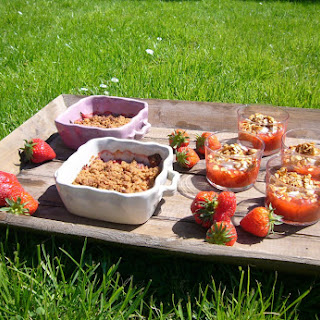 Strawberry and Rhubarb Crumble and Compote