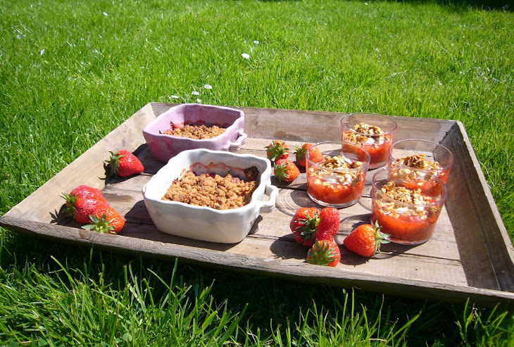 Strawberry and Rhubarb Crumble and Compote Recipe