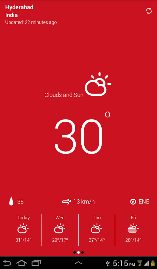 Weather Neue - screenshot