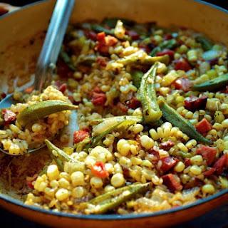 Okra and Sweet Corn Purloo.