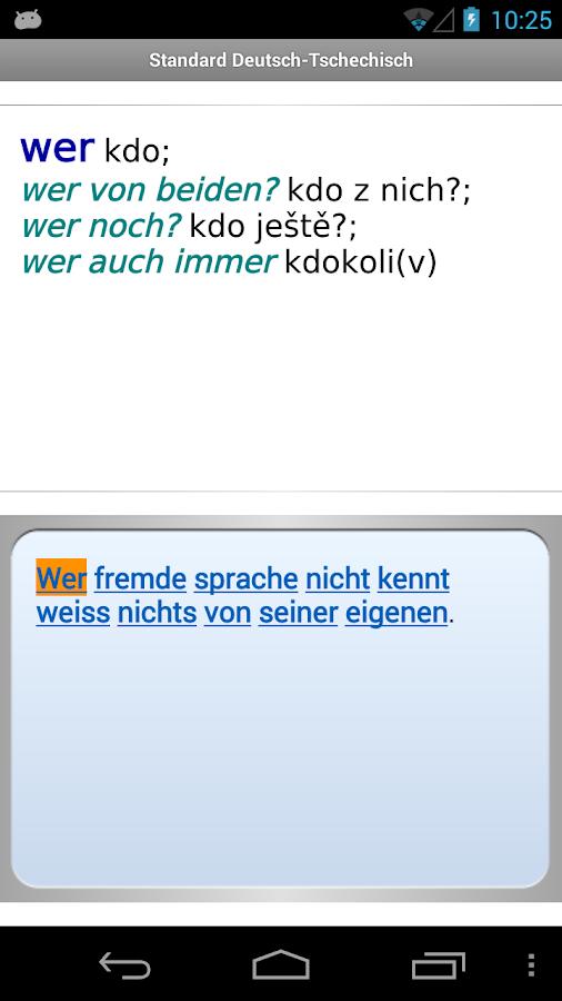 Standard Tschechisch- screenshot