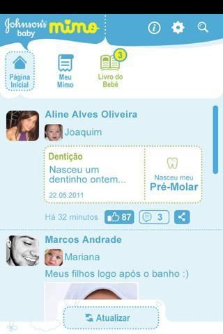 JOHNSON'S® baby Mimo - screenshot