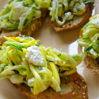 Crostini with Zucchini Squash and Feta