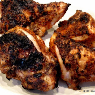 Grilled Paprika-Garlic Bone-in Skin-on (Split) Chicken Breast for Two