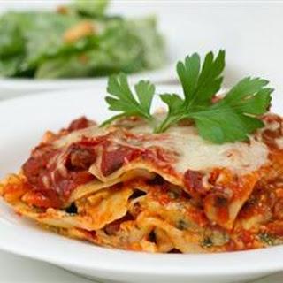 Deep Dish Lasagna.